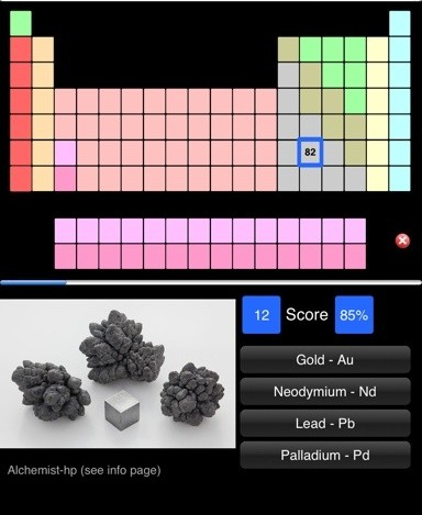 Periodic table apps two free learning games reviewed learning elements periodic table app urtaz Image collections