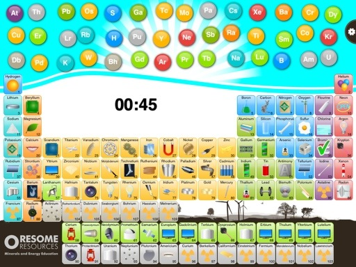 Periodic table apps two free learning games reviewed learning oresome elements periodic table app urtaz Image collections