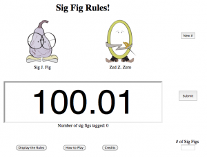Identify significant digits in SigFig, also on Study Putty. Sig is a Fig. Get it?