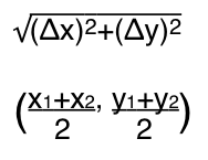 Distance Midpoint Formula