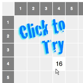 Click to try our interactive multiplication table